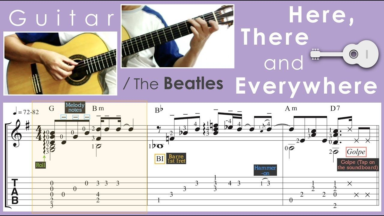 Here There And Everywhere The Beatles Guitar Youtube In 2020 Beatles Guitar The Beatles Guitar Youtube