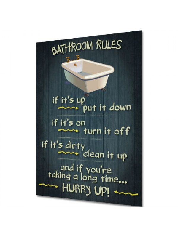 bathroom cleanliness rules | bathroom rules - vintage design funny