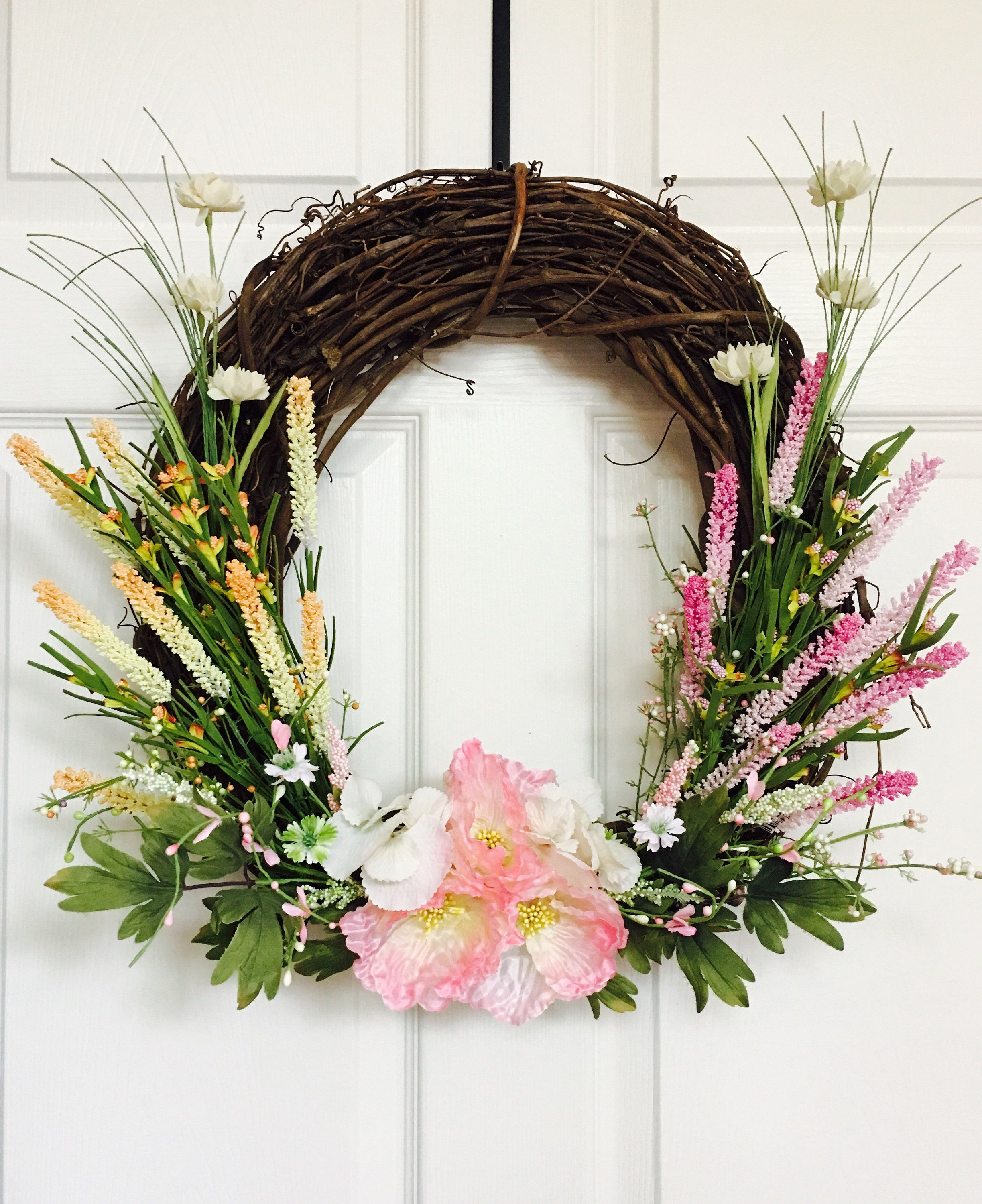 Items Similar To Summer Wreath For Front Door,Flower Berry Wreath,Front