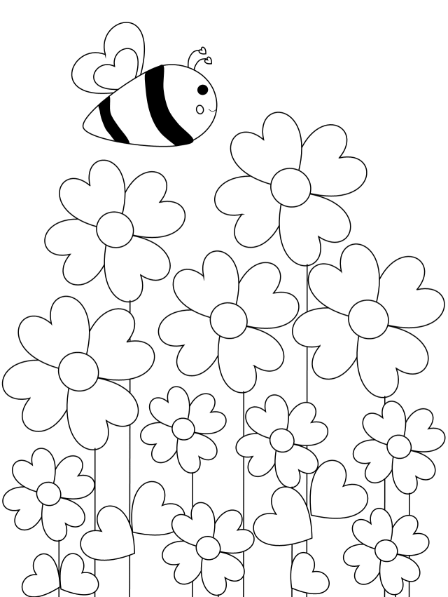 Free Printable Bee Coloring Pages You Will Love Healthy Family And Me In 2020 Bee Coloring Pages Coloring Pages Bee Printables
