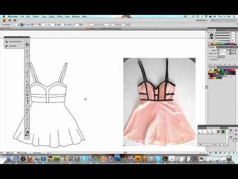 How To Illustrate Your Fashion Designs For A Manufacturer Using Adobe Illustrator Fashion Design Software Fashion Illustration Tutorial Fashion Design For Kids