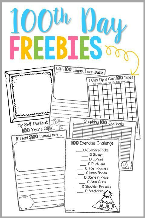 Create a 100th Day of School Sticker Collection - Just Reed & Play