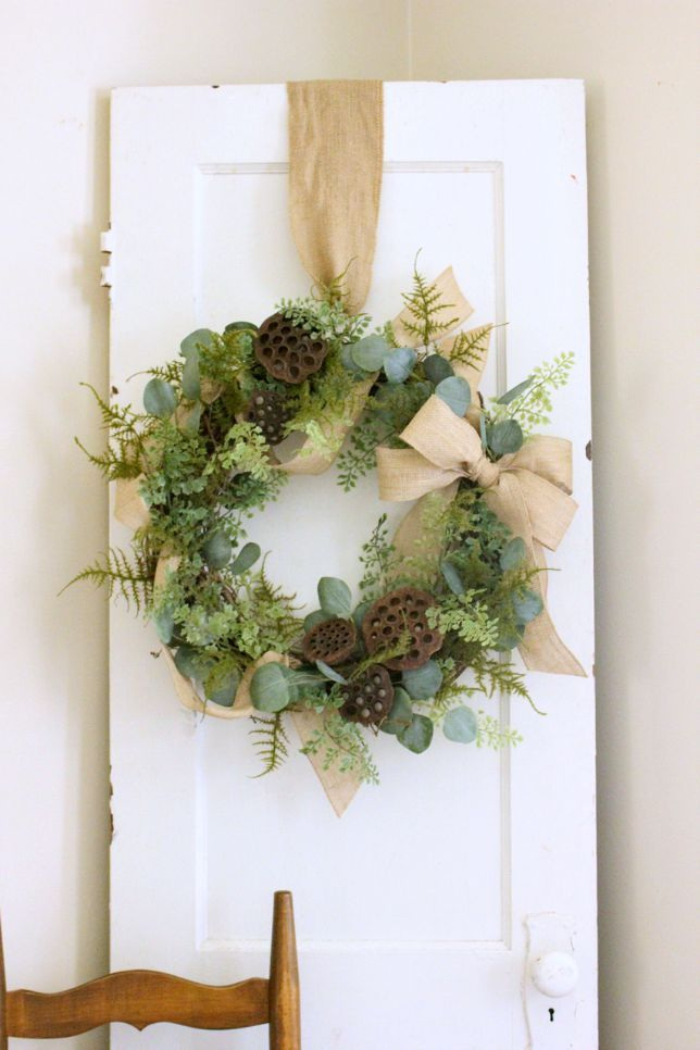 Photo of Burlap Ribbon Wreath – daisymaebelle