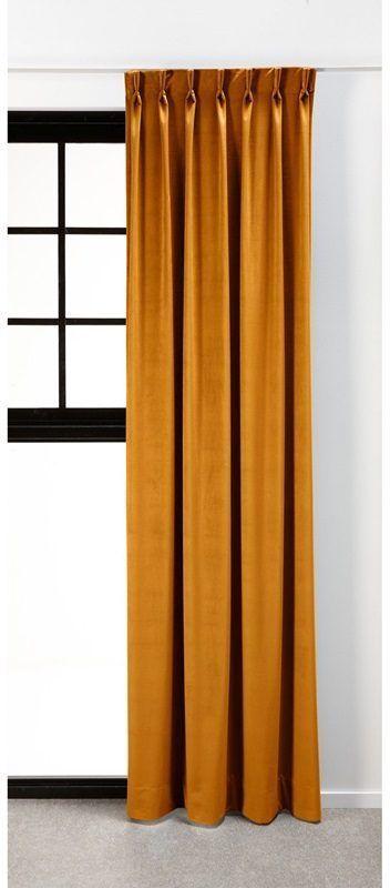 gele kwantum gordijn velours romeo oker van bestellen voor 1800 de mooiste raambekleding vind je op gordijnenvindennl