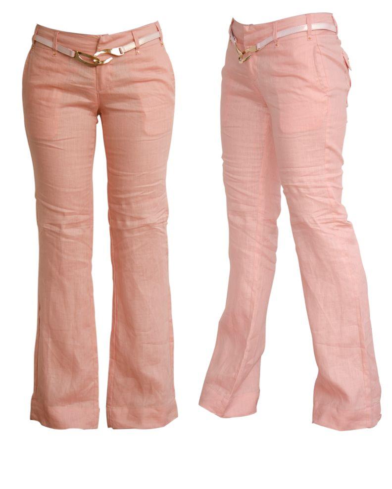 Pantalones Lino Y Clasicos Mujer Pantalon Lino Mujer Pantalones De Lino Blusa Con Flecos