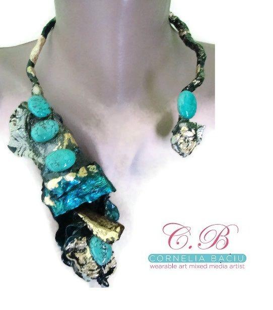 Luminous Avant-garde Wearable Art Necklace - night Sculpted ...