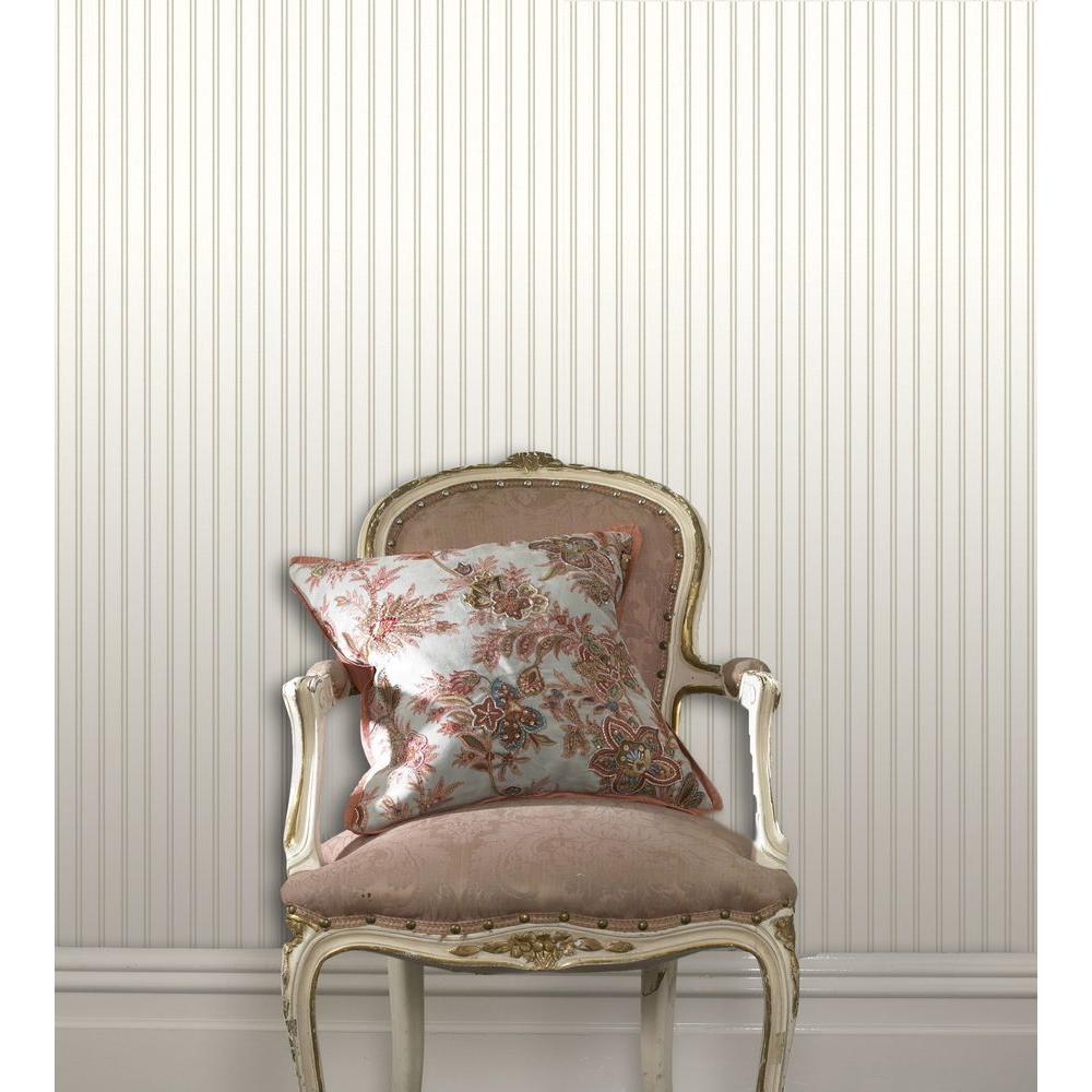 Graham & Brown White Beadboard Paintable Wallpaper White