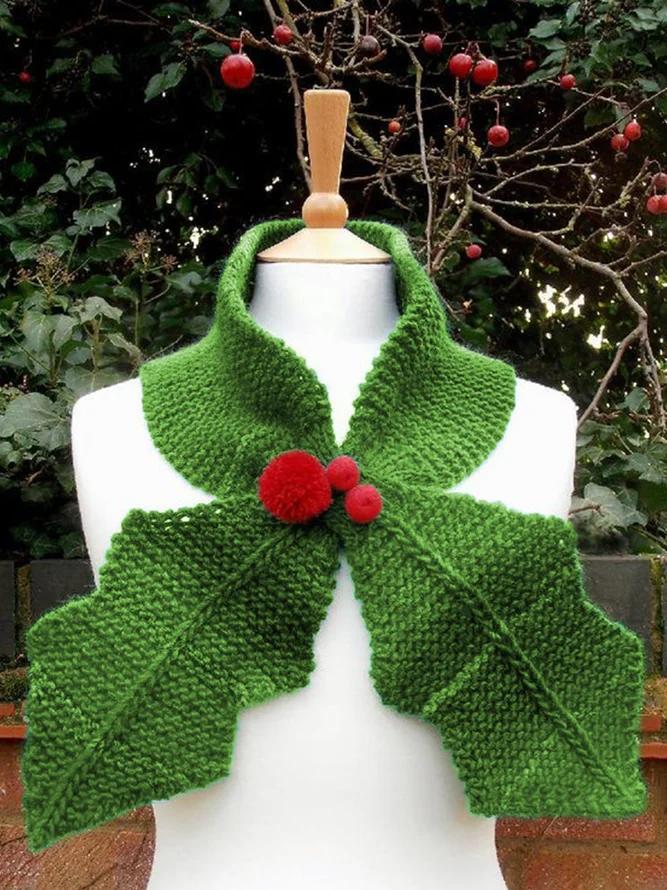 Photo of Winter Neckchief Warm Scarf   Accessories   Zolucky Red Accessories Knitted Winter Accessories