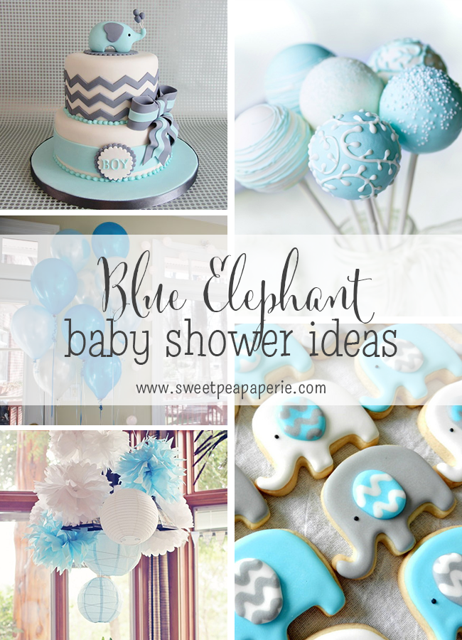 Inspirations :: Blue And Gray Elephant Baby Shower