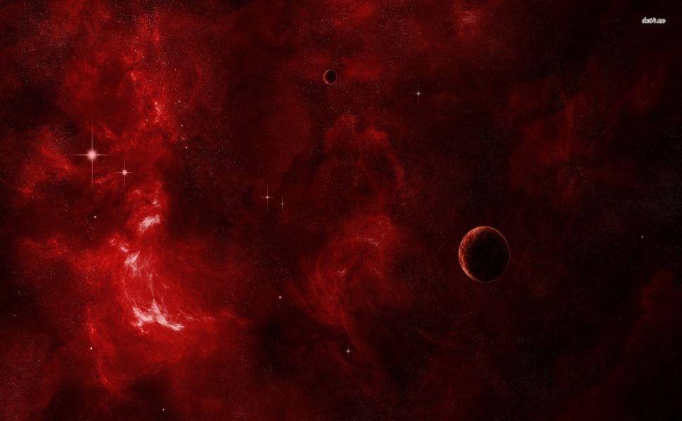 Red Galaxy HD Wallpaper