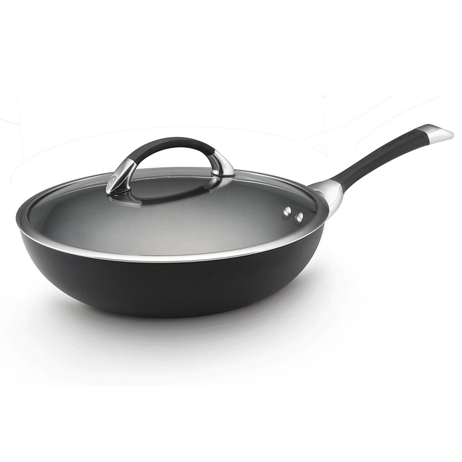Cookware gt see more select by calphalon ceramic nonstick 8 inch an - Circulon Symmetry Hard Anodized Nonstick 12 Inch Covered Essentials Pan Find Out