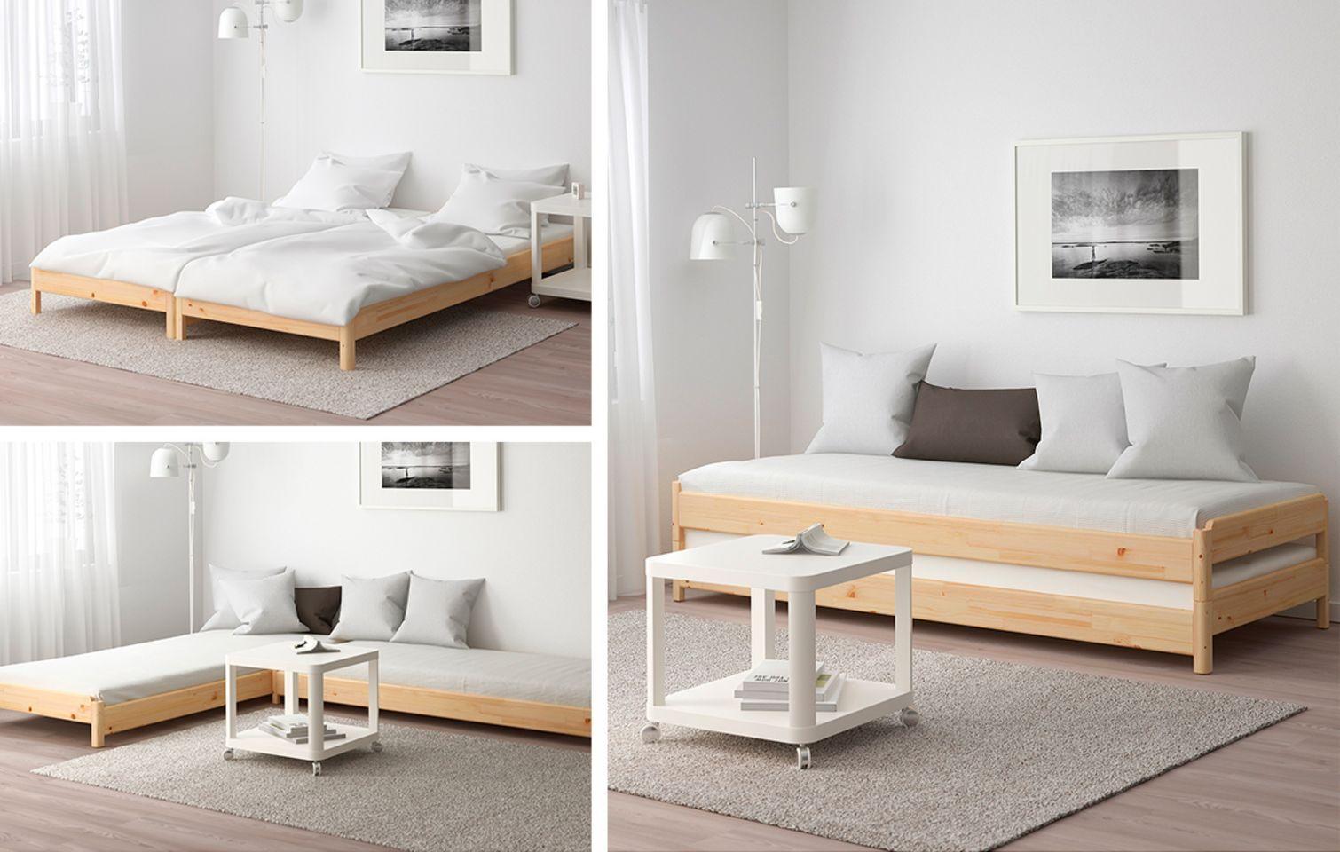 Multifunktionelle og pladsbesparende møbler til små