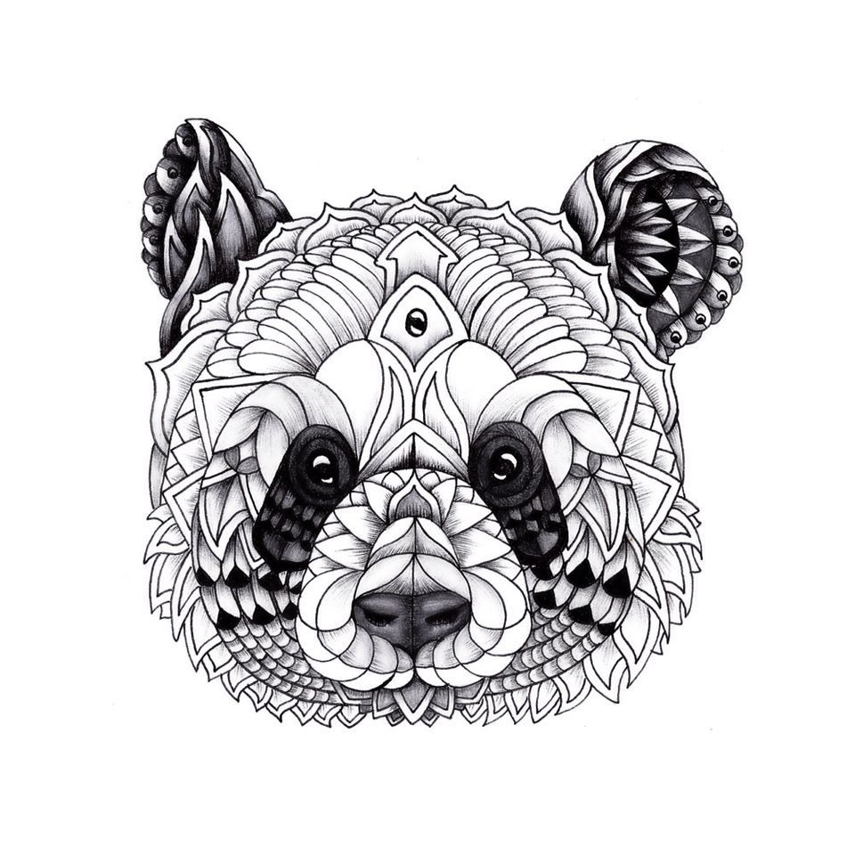 15 Unique Coloriage Panda Mandala Images Coloriage Panda