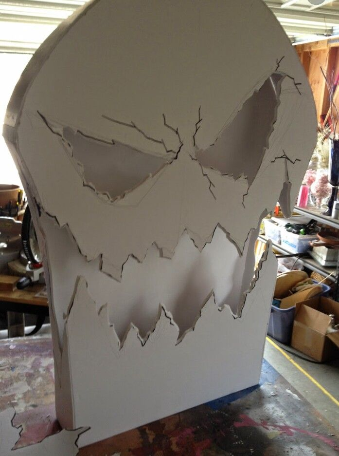 Cool Prop Skull for Halloween Reminds me of the Nightmare before
