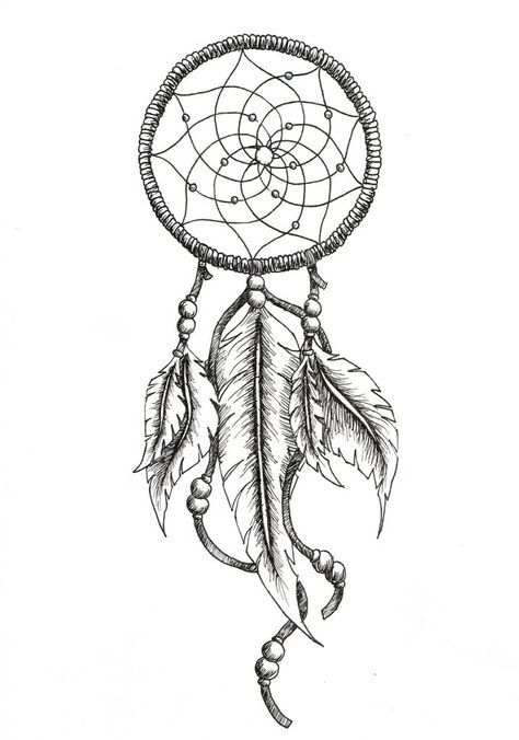 Outline Simple Dream Catcher : outline, simple, dream, catcher, Dream, Catcher, Tattoo, Outline, Design,, Feather, Tattoos,, Drawing