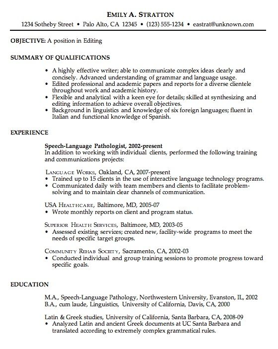 Sample Resume For Job Free Resume Templates