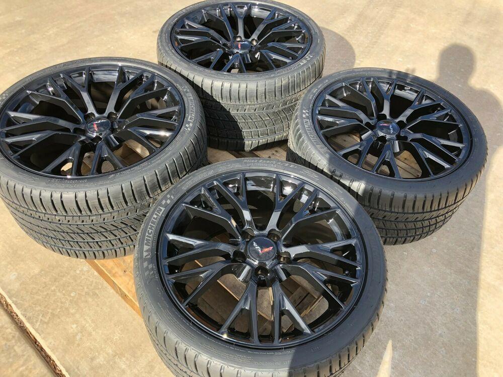 (Advertisement eBay) C7 Z06 Corvette Black Wheel Michelin