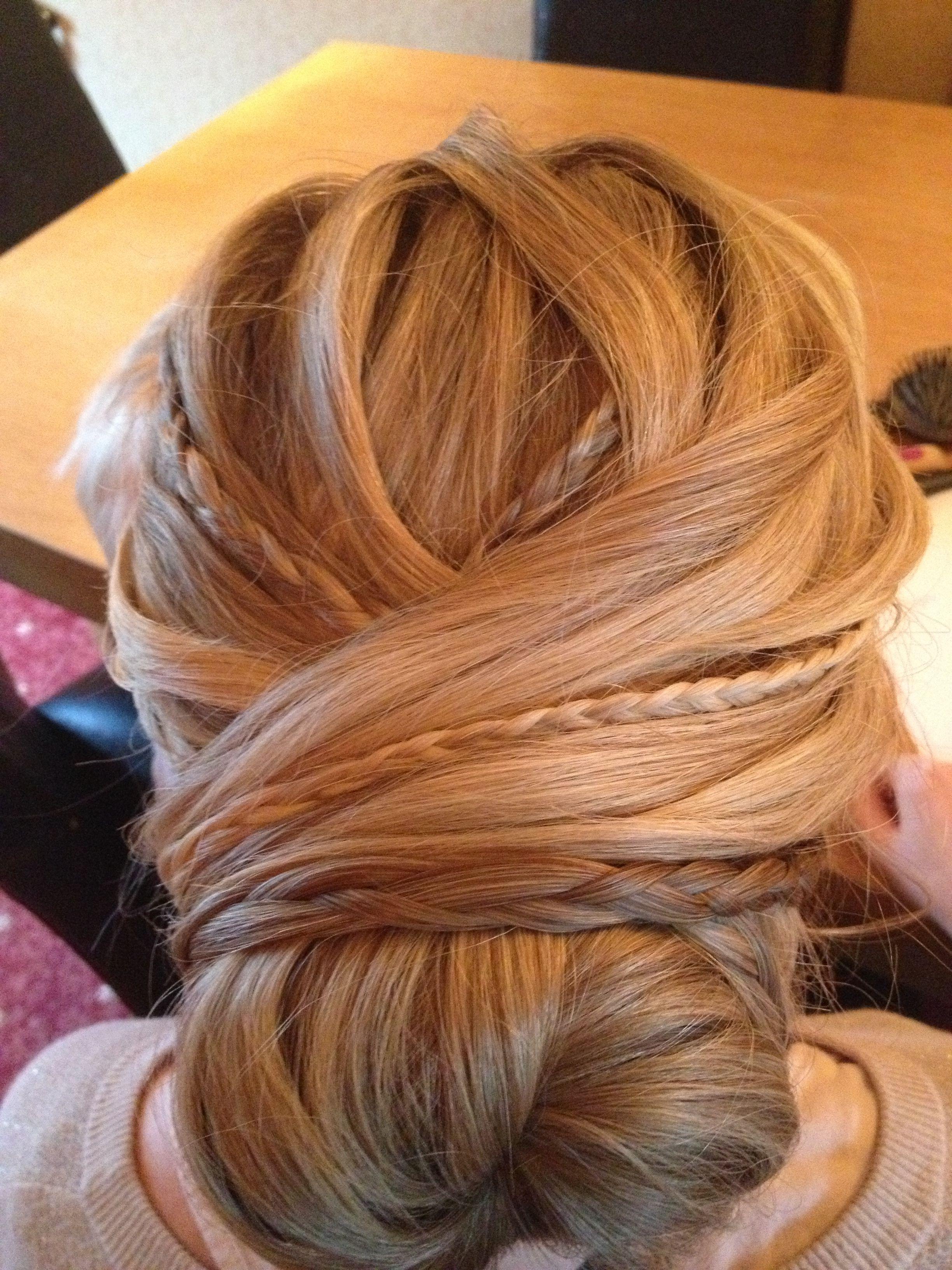 Braided bun for wedding | Hair styles, Prom hair, Long ...