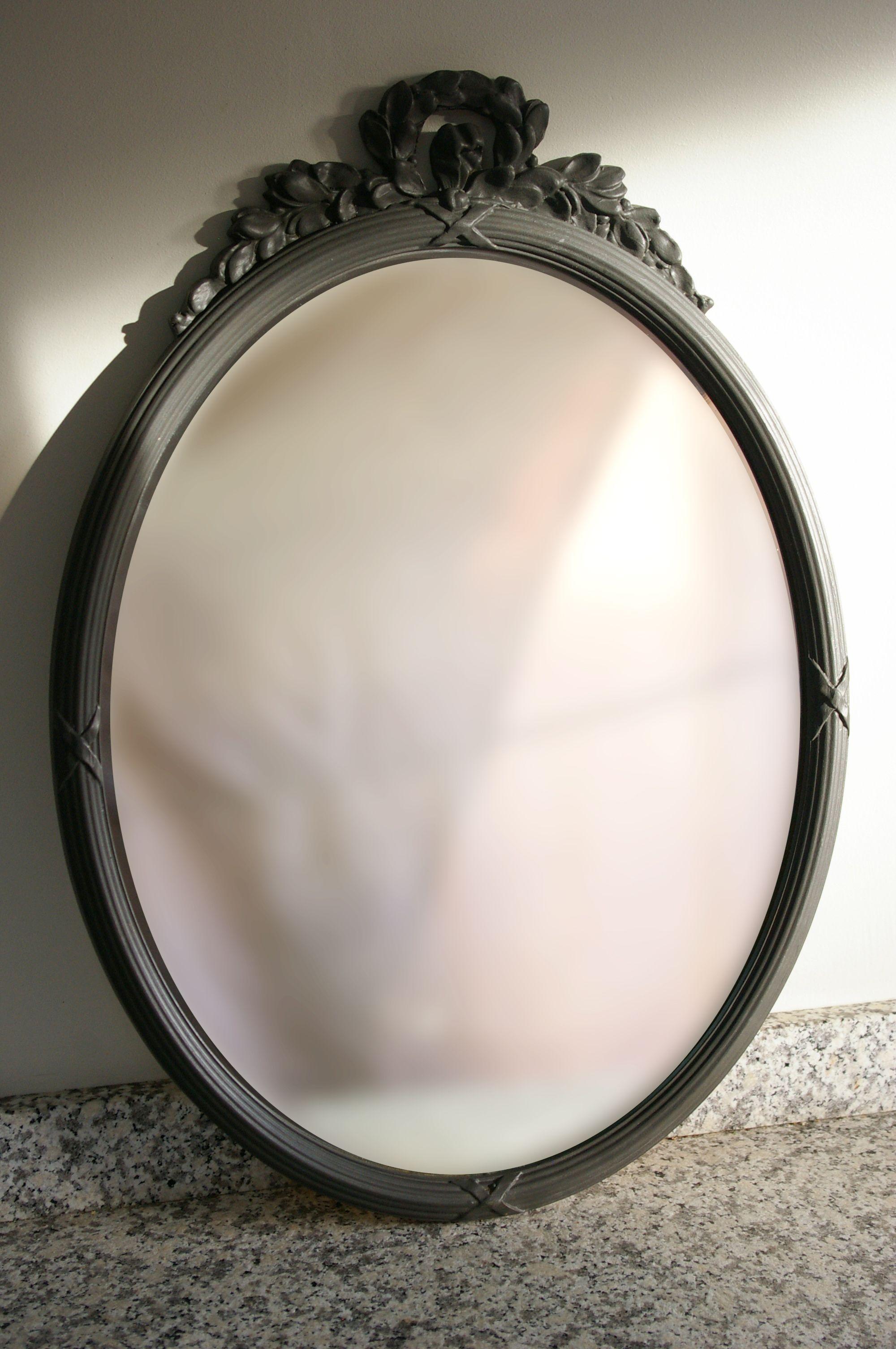 Brocante Zwarte Spiegel.Ovale Brocante Spiegel Spiegels Brocante Spiegel