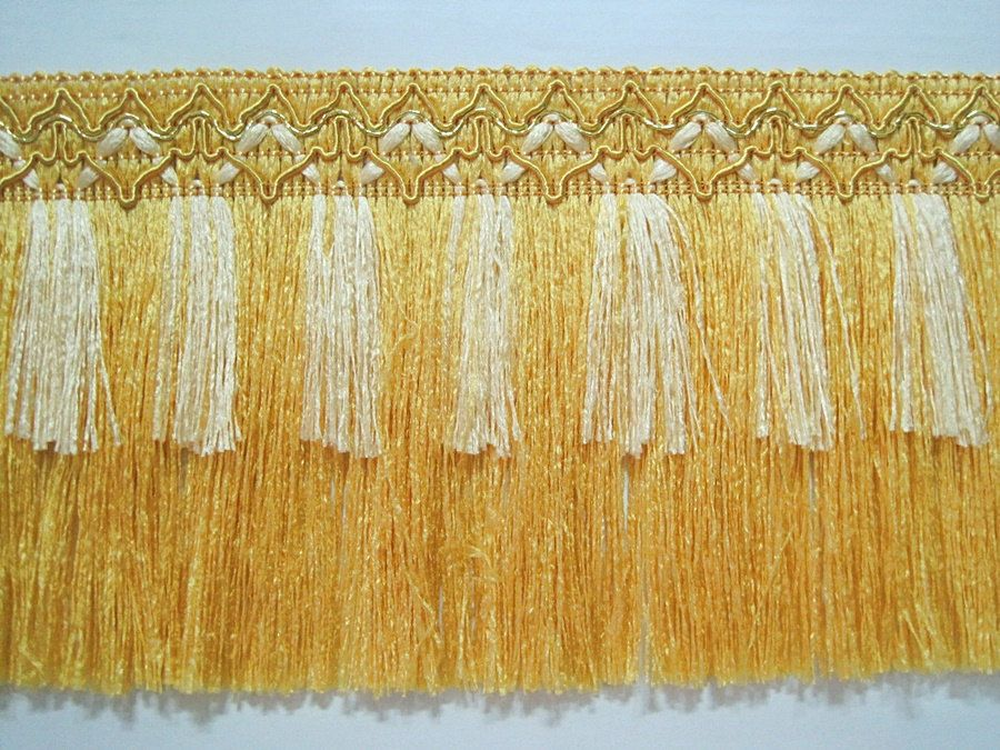 5 YARDS BEAUTIFUL TINY GOLD SEQUINS WITH SHINY GOLD BRAID TRIM