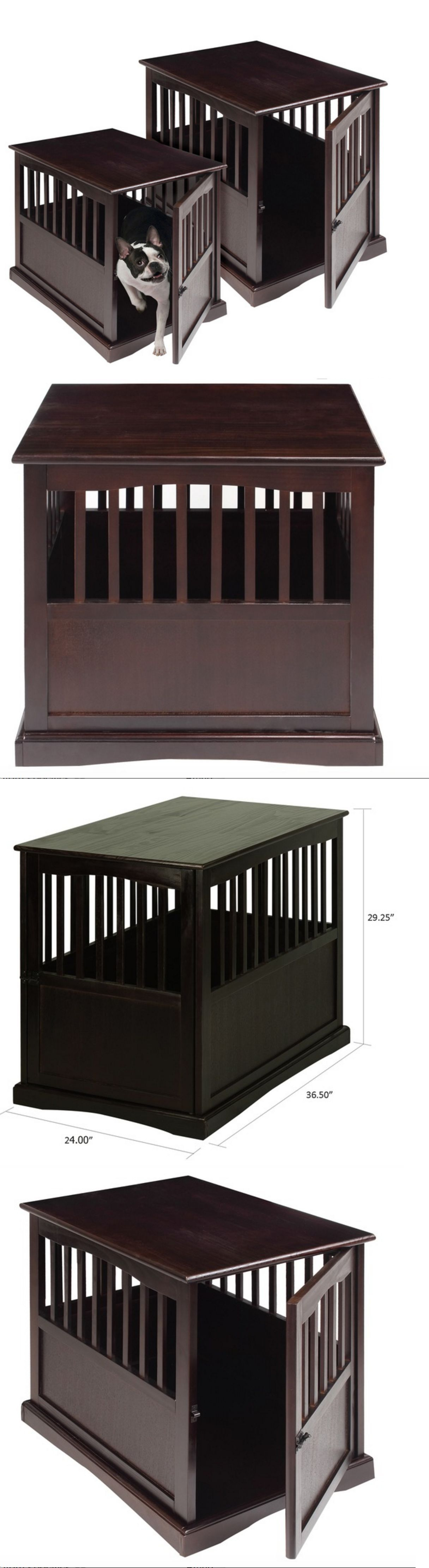 Dog Houses 108884: Dog Crate End Table Furniture Pet House Indoor Kennels  Large Wooden Side