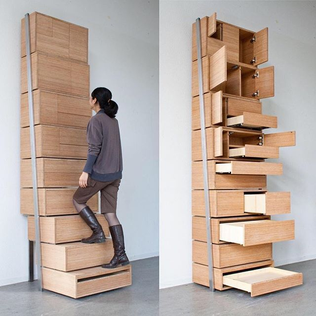 Staircase Danny Kuo This Genius Staircasestorage System Allows - Staircase-storage-by-danny-kuo