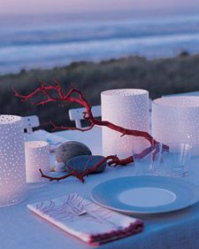 Bring seaside ambience to your next summer get-together with our decor and menu ideas.