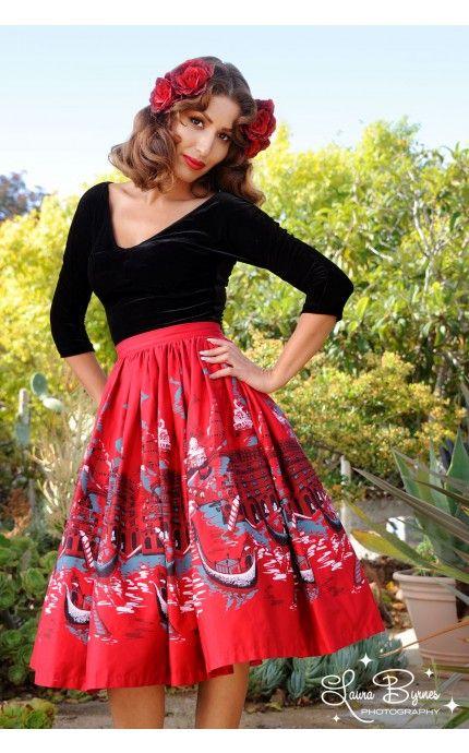 7176db1da80e Pinup Couture - Jenny Skirt in Italian Landscape