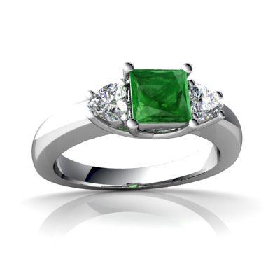 Emerald Ring - 14k White Gold,$1.00
