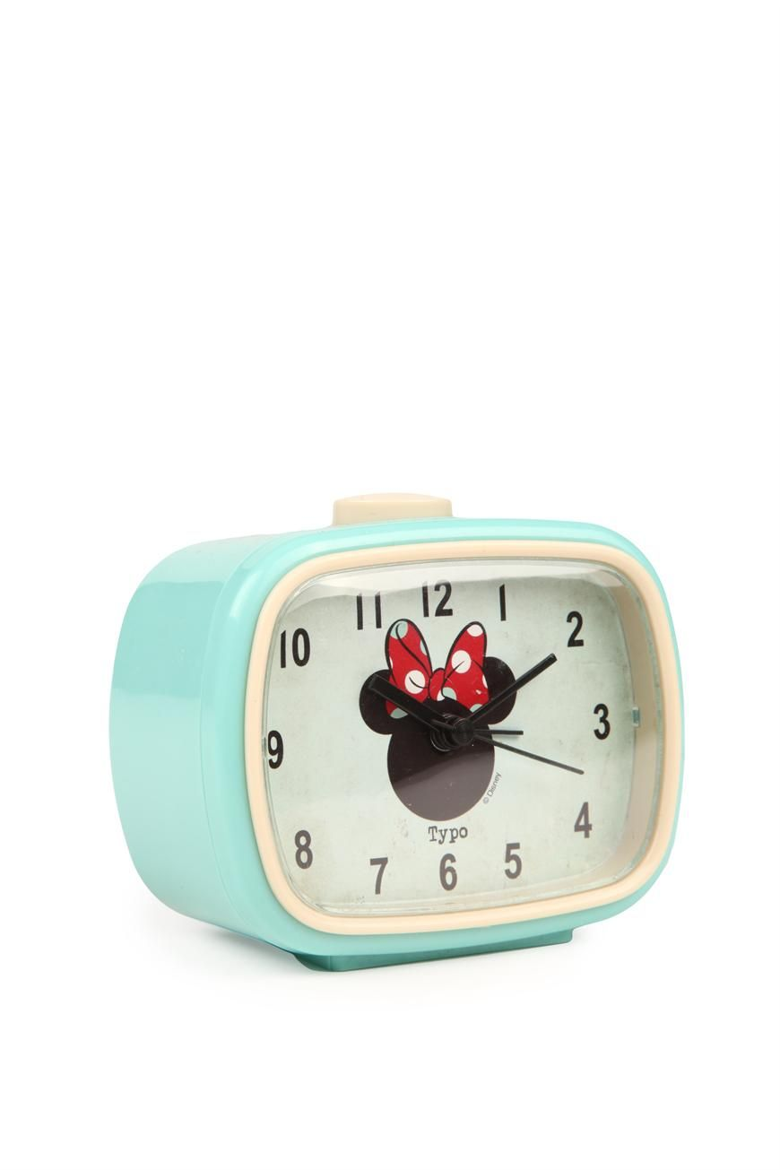 62b635adfac Minnie Mouse blue mcfly alarm clock  disney  minnie  clock  decor  typoshop
