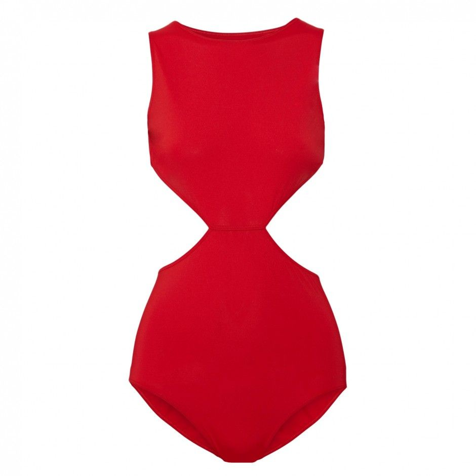 8b218e0396 Red Swimsuits Are the Summer Trend You ll Want to Shop Now  Rick Owens  Cutout Swimsuit.