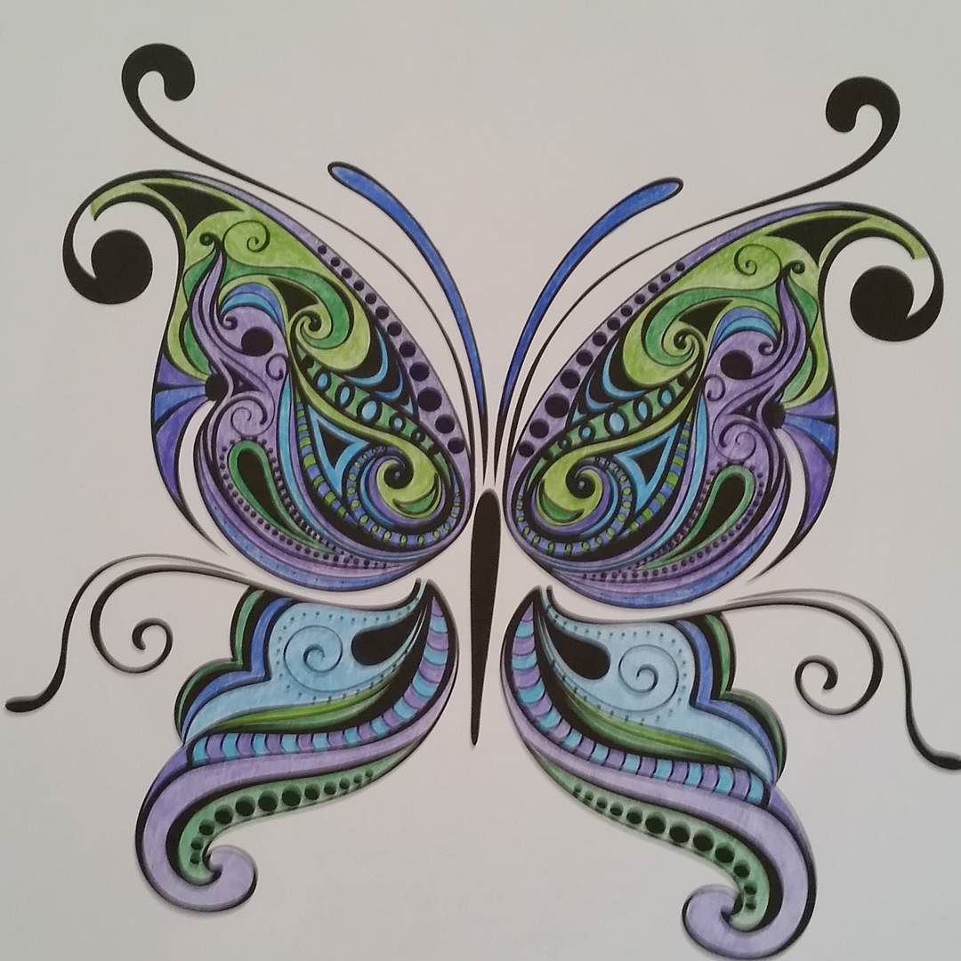 Finished Coloring My Butterfly Adultcoloringbook Adultcoloring Coloringbook Coloredpencils Colorama Coloramacoloringbook