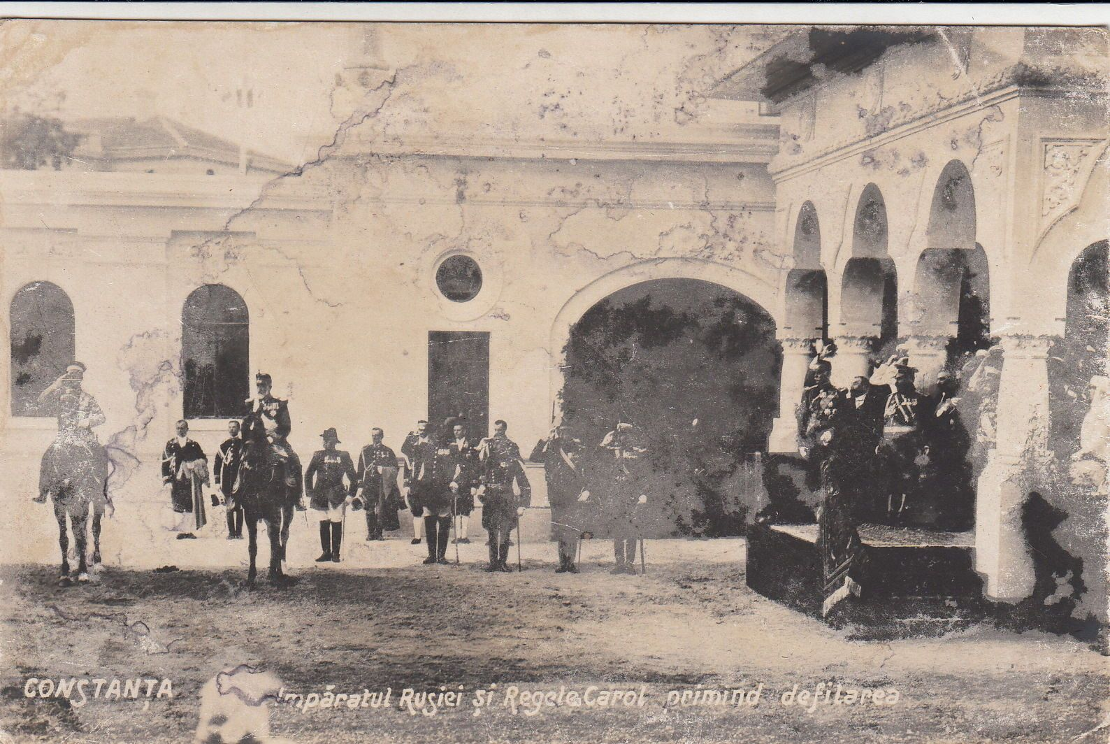 Fabulous Zar Nikolaus II v Ru land m K nig Karl I v Rum nien in Constanta Parade