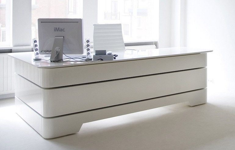White Executive Desk | White executive desk, Office table ...