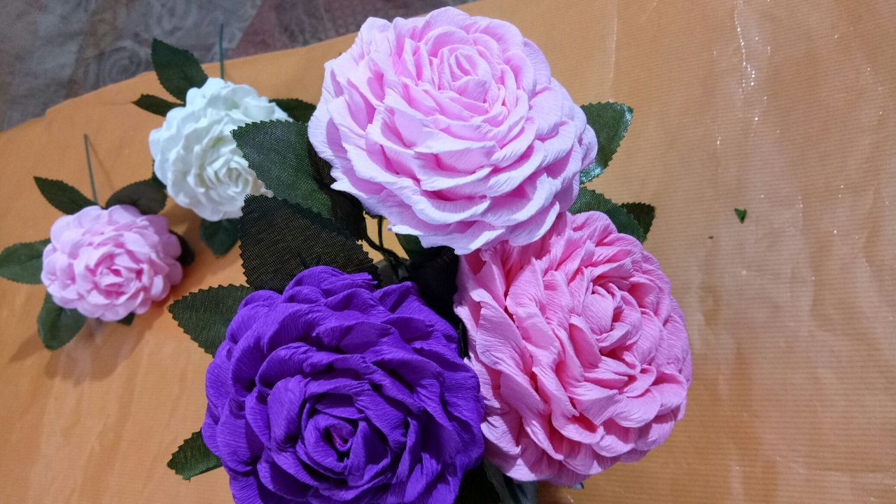 How To Make Easy And Simple Paper Flower By Crepe Paper Paper