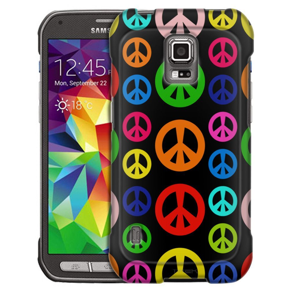Samsung Galaxy S5 Active Colorful Peace on Black Slim Case