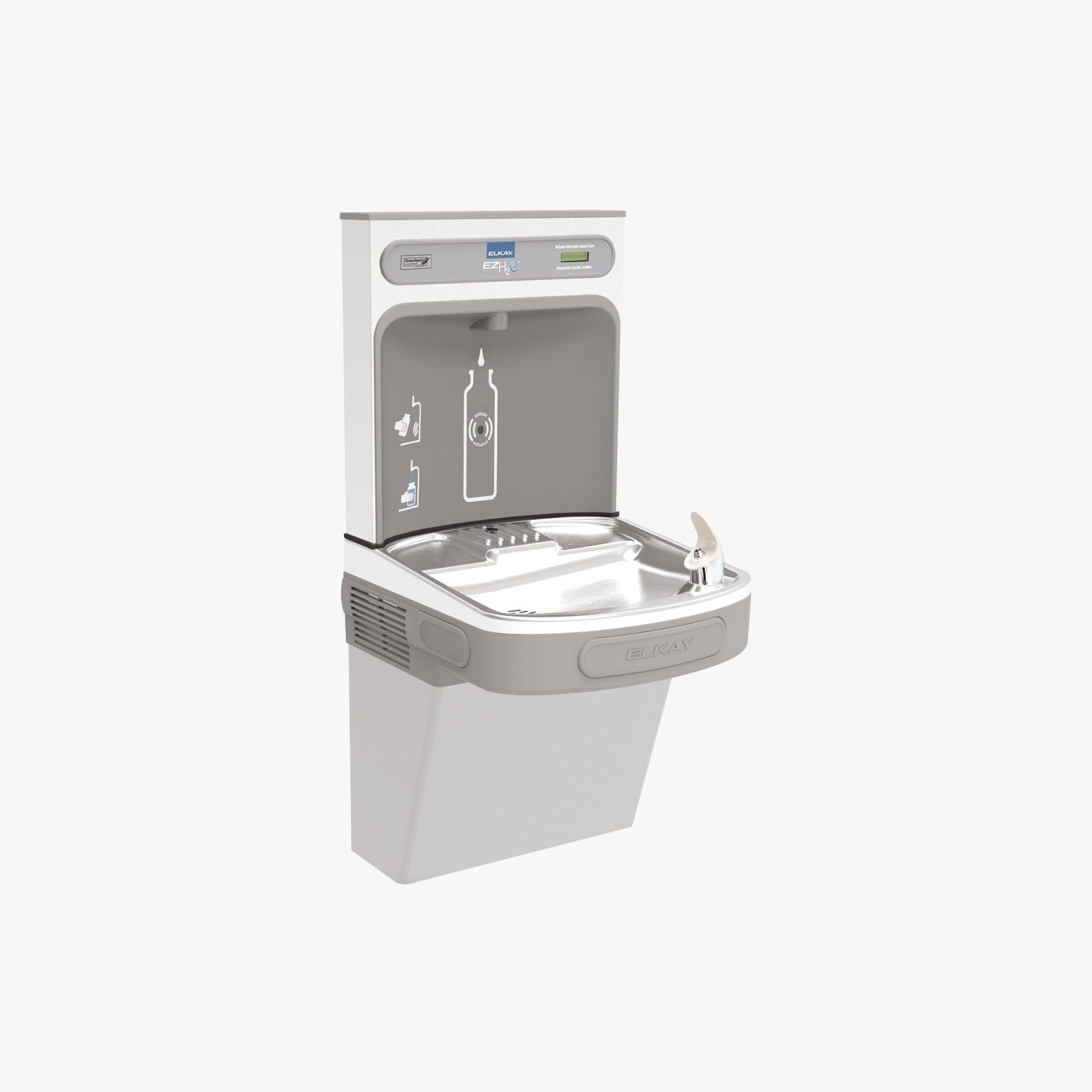 Elkay Ezh2o Drinking Fountain Bottle Filling Station For Summer In 2020 Elkay Clean Water Bottles Drinking Fountain