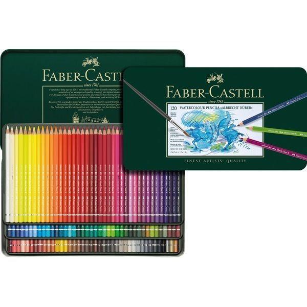 Faber Castell Art Grip Aquarelle Watercolor Pencils Set Tin Of 60