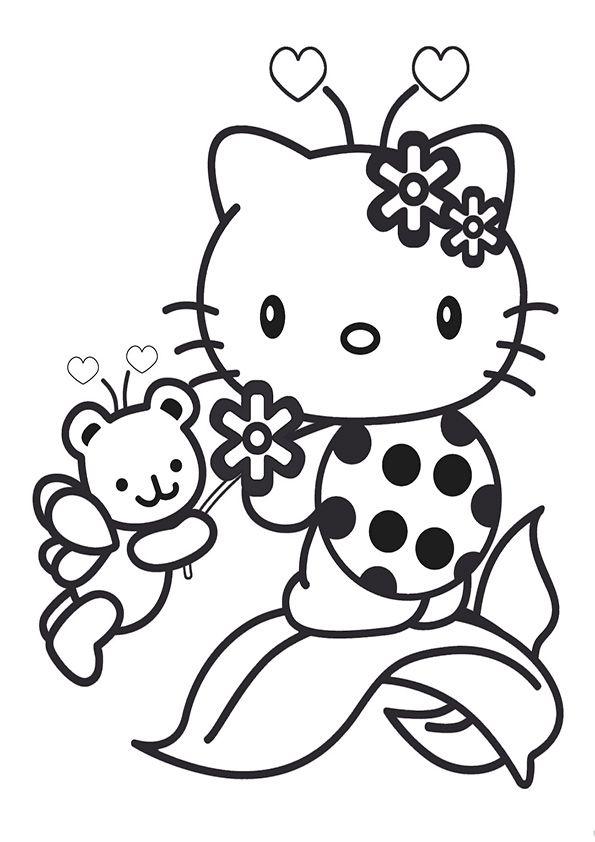 ausmalbilder hello kitty  warna