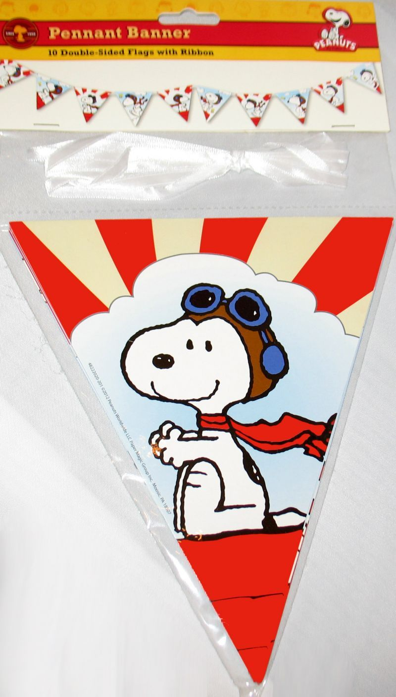 Flying Ace Party Pennant Banner: Snoopn4pnuts.com