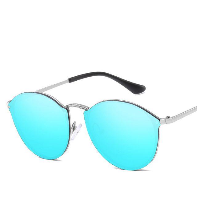 2019 Luxury Round Sunglasses Women Brand Designer Cateye