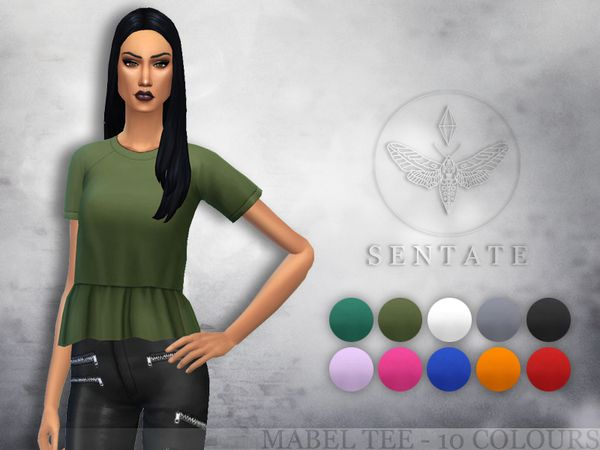 The Sims Resource: Mabel Tee by Sentate • Sims 4 Downloads | Sims