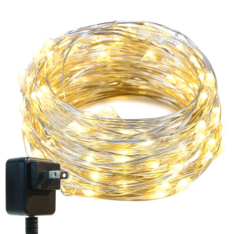 string lights oak leaf 33ft led starry lights with ul certified 3v