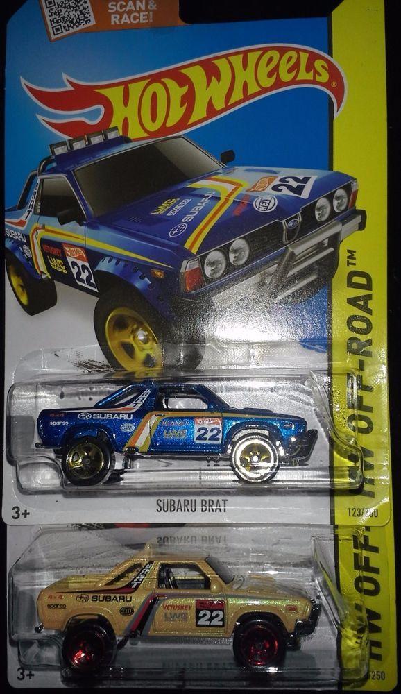 Hot Wheels 2 2015 Off Road Subaru Brat Blue K Day Yellow Hot Wheels Subaru