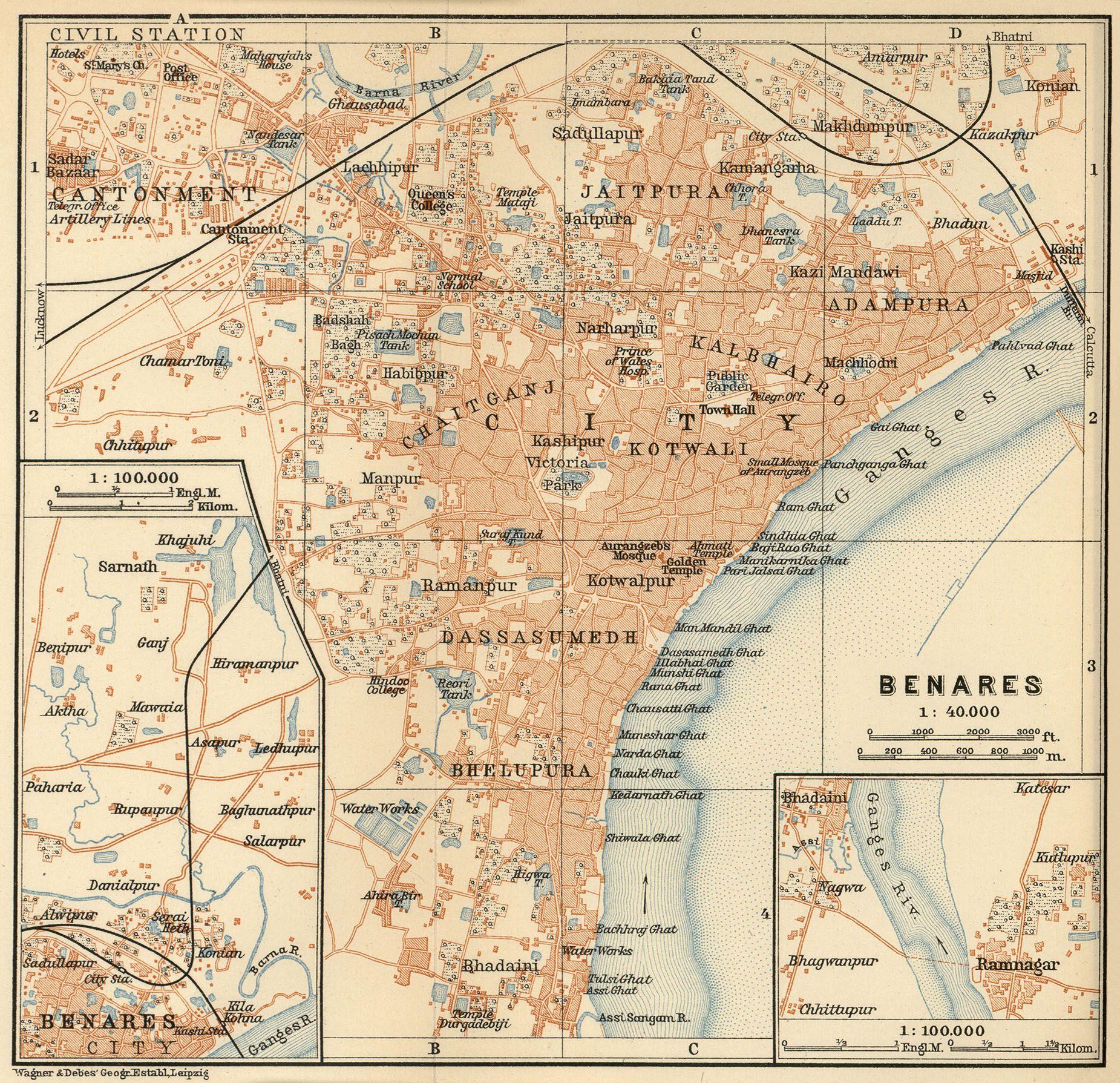 Map Of Varanasi Varanasi Images Pinterest Varanasi - Varanasi map