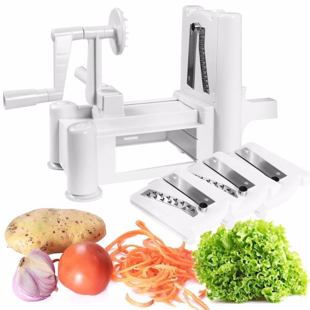 Deluxe Tri Blade Vegetable Spiralizer Spiral Vegetable