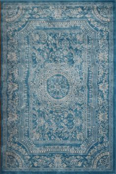 Amazon Com Light Blue Traditional French Floral Wool Persian Area Rugs 5 2 X 7 3 Machine Made Rugs Tapis Orient