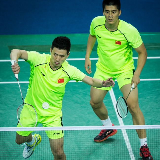The Ultimate 4 Time World Champions And Olympic Gold Medalists Fu Haifeng And Cai Yun Are Said To Be The Ultimate Men S Badminton Shirt Double Team Badminton