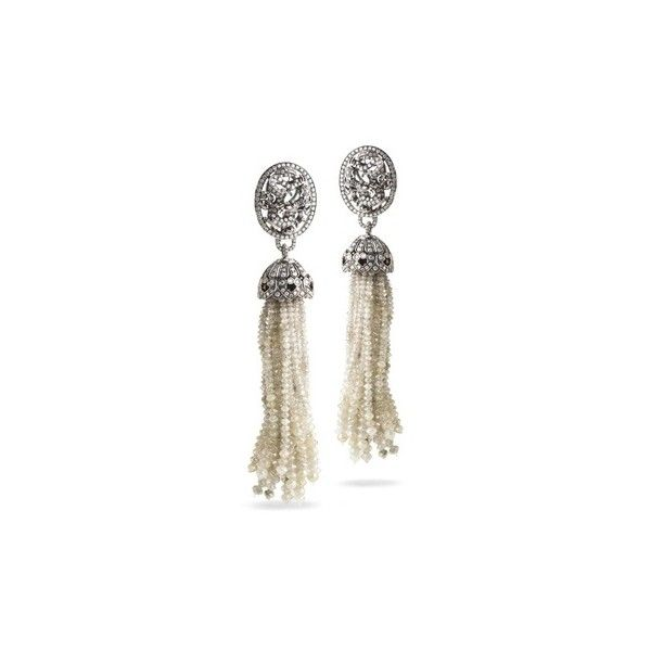 Great Gatsby Style ❤ liked on Polyvore featuring jewelry, earrings, 20s, flapper earrings, gatsby earrings, gatsby jewellery, earring jewelry and flapper jewelry