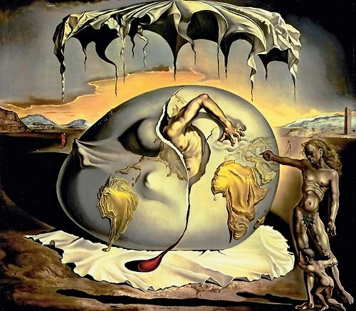 """Salvador Dali- """"Geopoliticus Child Watching the Birth of the New Man"""", 1943"""